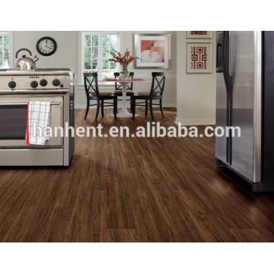 Bois lisse en relief vinyle plank flooring avec uv revêtement