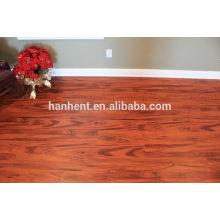 Fácil limpeza interclocking pisos pvc com madeira vermelha