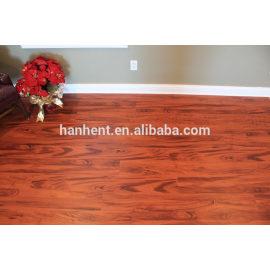 Easy clean interclocking suelo de pvc con red de madera