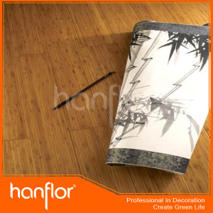 Sólido diseño de bambú suelo de pvc