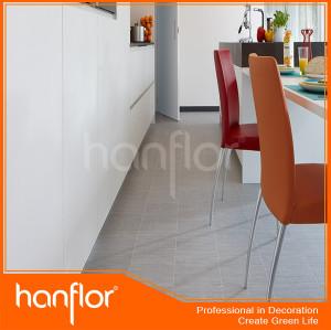 Hanflor de madera suelo de PVC con color oscuro