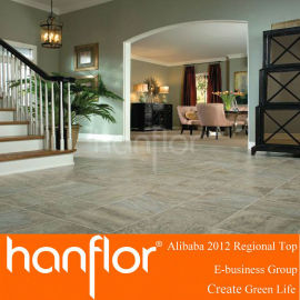 Vinilo pvc azulejos de suelo para uso doméstico y uso comercial