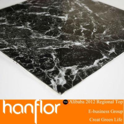 Haute qualité marbre conception pvc carreaux de sol