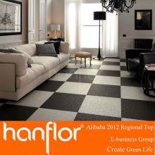 Eco Friendly preto e branco boa aparência PVC de azulejo de vinil