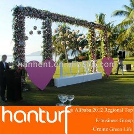 Del banquete de boda de césped ARTIFICIAL para el jardín de la decoración