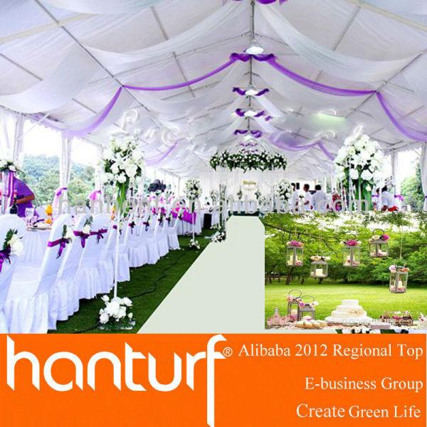 Высокое качество свадьба искусственный газон выглядеть натуральным покрытием