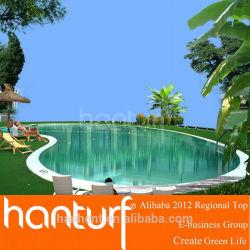 Populaire doux et coulissante friendly artificielle herbe pour piscine / jardin / balcon / aménagement paysager herbe