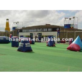 Caliente! Paintball sintético de colores alfombra de césped