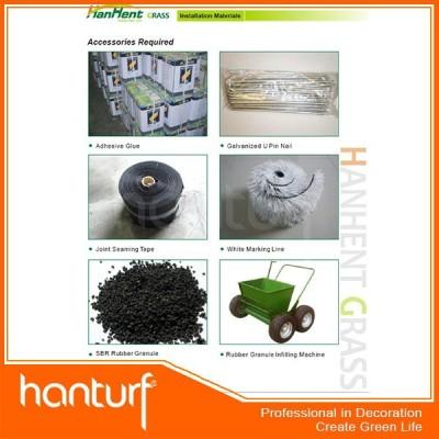 Fútbol de hierba artificial instalación accessoreis balck gránulo de caucho