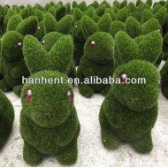 Promotion de noël herbe lapin de fibers décoration
