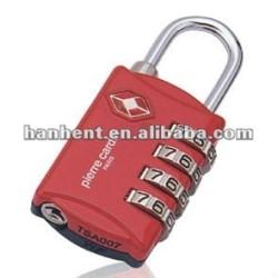 Resettable 4 dial safe TSA serrure HTL309