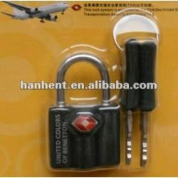 Noir en alliage de zinc TSA serrure avec clés