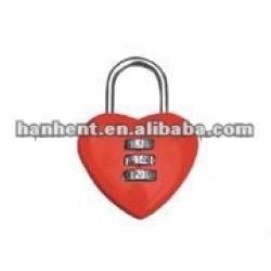 Rouge conception de coeur qualité serrure à combinaison