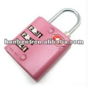 De color rosa 3 dial de seguridad cerraduras de combinación