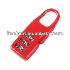 Rojo color lindo mini cerradura de combinación