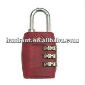 Popular 3 dial tsa del equipaje de bloqueo HTL335