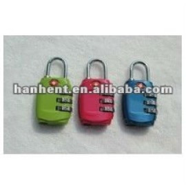 De seguridad tsa 3 dígitos cerradura de combinación HTL331