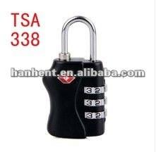 Popular tsa 3 dígitos cerradura de combinación HTL338