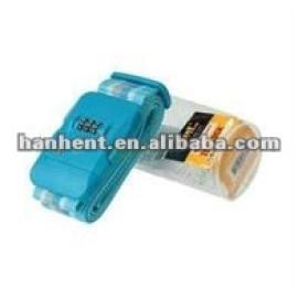 3 dial resetable correa de equipaje cerradura de combinación
