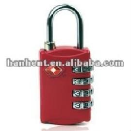 Tsa metal rojo de restablecimiento cerradura de combinación