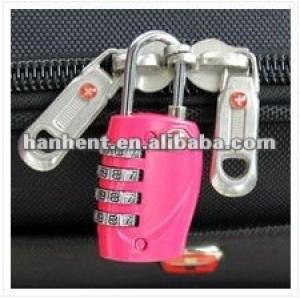 Promoción de la navidad de seguridad de restablecimiento de la cremallera del equipaje del viaje lock