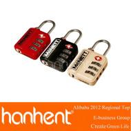 Haute qualité 3 chiffres en alliage de zinc TSA bagages de verrouillage