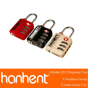 Alta calidad 3 dígitos de aleación de zinc TSA del equipaje de bloqueo