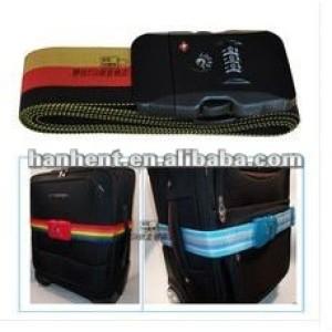 2012 de moda de equipaje cierre TSA correa, Poliéster