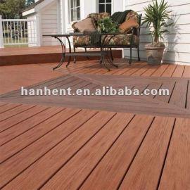 Fibra de madera wpc suelos de exterior floor decking