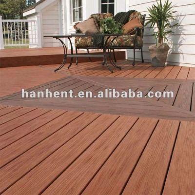 Fiber de bois wpc plancher extérieur caillebotis