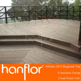 Exterior de madera decking suelo