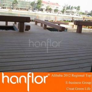 Fácil instalación piso decking del WPC