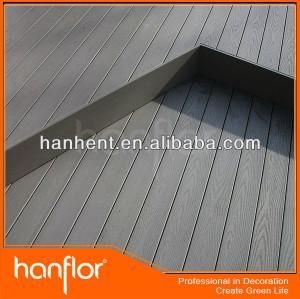 Decoración de madera piso wpc decking