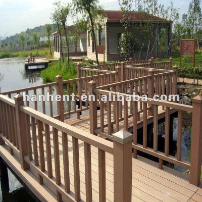 Jardinería wpc decking piso