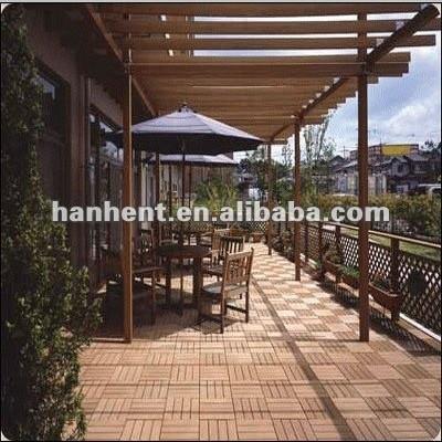 Bonne qualité décoration extérieure wpc plancher extérieur caillebotis
