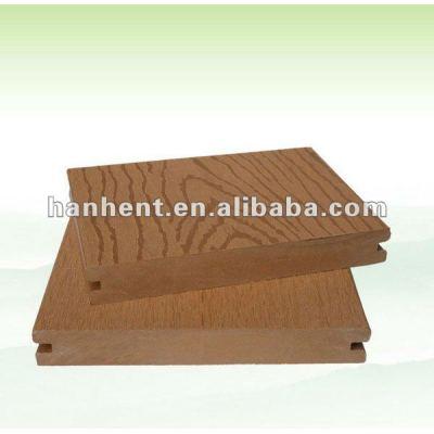 De madera de reciclaje diseño wpc decking hueco