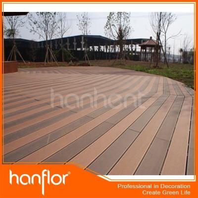 Directo de fábrica de plástico de madera pontón decking