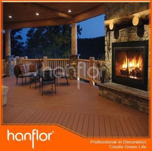 Elegante WPC decking / exterior plataforma / jardín pisos