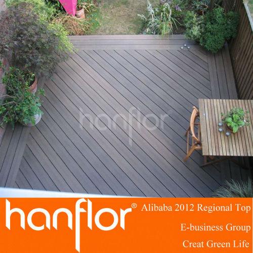 Compuesto plástico de madera exterior plataforma
