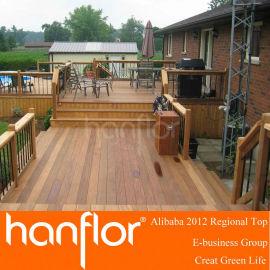 Sólido patio compuestas tablas de la cubierta