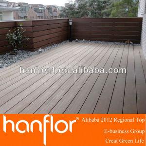 De plástico de madera para uso en exteriores