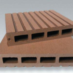 Wpc decking / textura de madera de WPC decking hueco