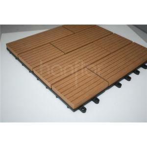 300 X 300 mm azulejo de suelo, Wpc enclavamiento cubierta de azulejos, Exterior diy azulejos