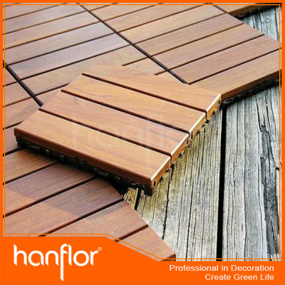 300 x 300 mm WPC DIY baldosa / exterior fácil instalación DIY baldosas WPC / exterior WPC flooring