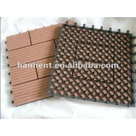 Exterior de madera del WPC - compuesto plástico de 300 * 300 mm bricolaje adhesivo de azulejo