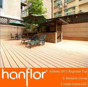 Wpc de madera y plástico del piso de vinilo revestimiento exterior