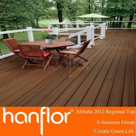 Como natural de madera y fácil de instalar textura de madera de wpc decking