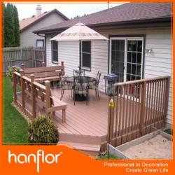 300 mm * 300 mm haute qualité wpc verrouillage carrelage de la terrasse