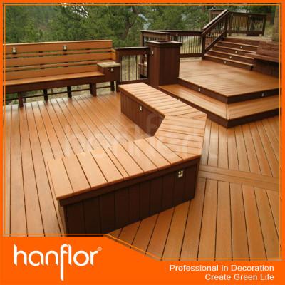 Plancher de wpc carreaux de sol en plein air en bois de wpc