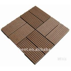 Ao ar livre WPC decking tile 310 X 310 X 22 mm